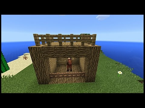👉Minecraft pe: How to make a mini  Horse  Stable