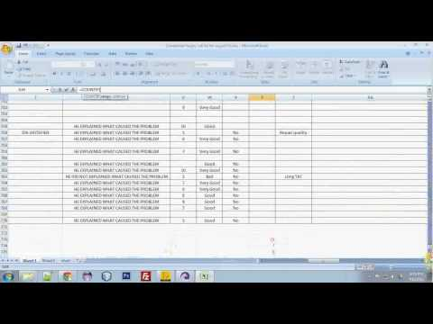 Counting Selected data in Excel