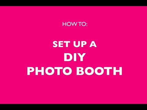 How to Set Up A DIY Photo Booth