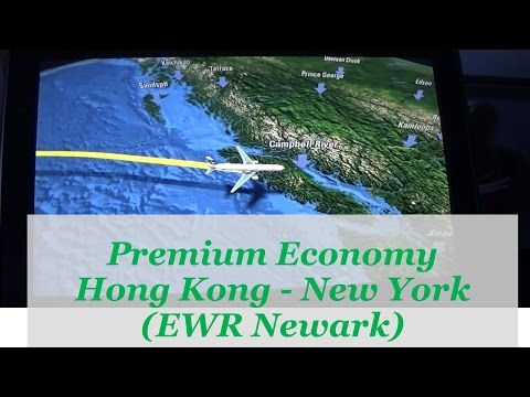 Cathay Pacific 777 Hong Kong - New York Premium Economy