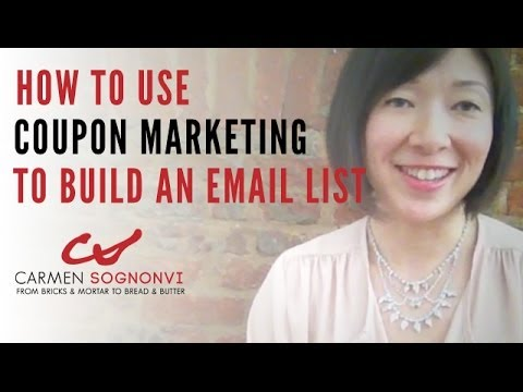 How to Use Coupon Marketing to Build an Email List | Carmen Sognonvi