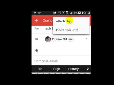 How to send attachment in Gmail Android App