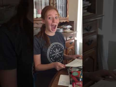 Ecstatic Girl Opens College Acceptance
