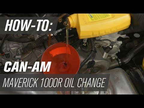 How To Change the Oil on a Can-Am Maverick 1000R