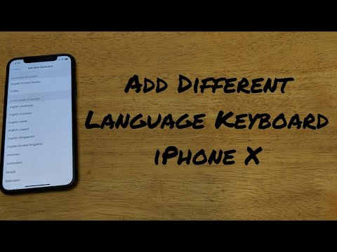 How to add different language keyboard iPhone X (10)