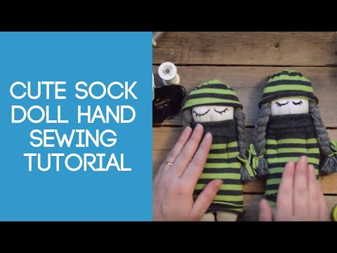 Cute sock doll hand sewing tutorial