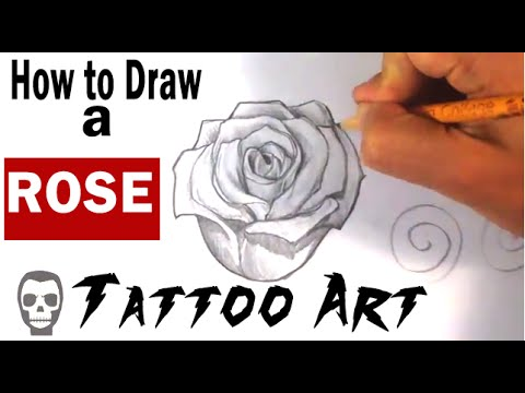 How to Draw a Rose - Tattoo Art