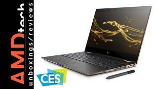 CES 2018:  New HP Spectre x360 15 (2018) & New HP Envy x2