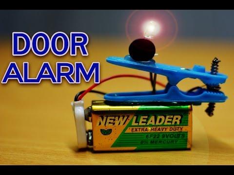 DIY Door Alarm   How to Make a Door Alarm   Electronics projects