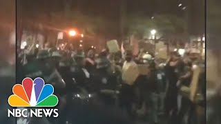 Police In Riot Gear Clash With Protesters Defying Curfew In Brooklyn | NBC News