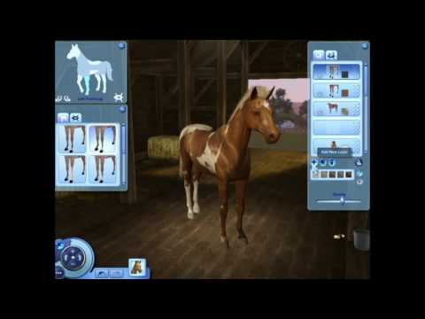 Sims 3 horses: Create a horse breed: The Abstang