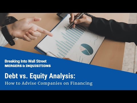 Debt vs. Equity Analysis: How to Advise Companies on Financing