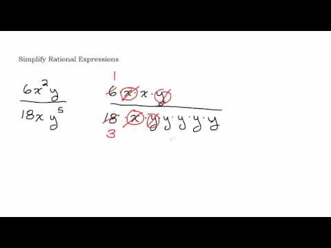 Simplify a Rational Expression by Factoring and Reducing