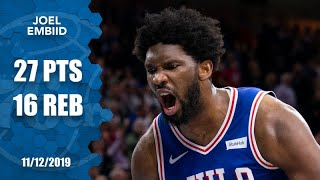 Joel Embiid's 27-point, 16-rebound night proves to be too much for Cavs | 2019-20 NBA Highlights