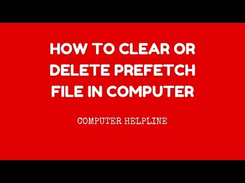 How To Clear or Delete Prefetch File in Computer