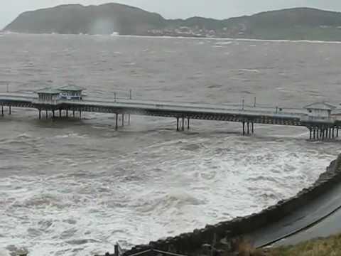 Llandudno Storm in North Wales