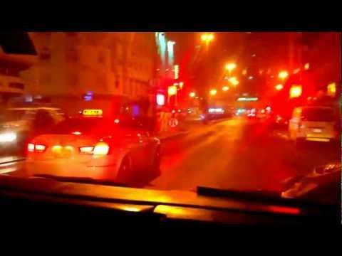 Car Crossing Red Signal In Dubai