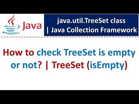 Java : Collection Framework : TreeSet (isEmpty)