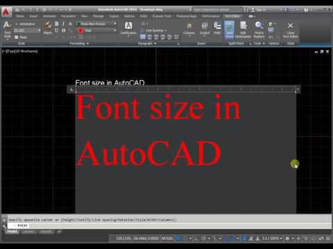 Font size in AutoCAD