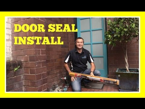 How to install a Weather Seal to the bottom of a door