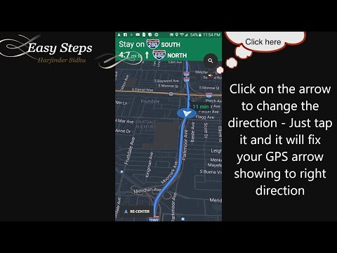 How to Fix GPS arrow showing Wrong Way | Side Ways | Google Maps | Apple Maps