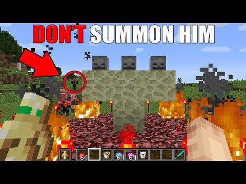 How to Summon Slenderman in Minecraft (DO NOT SPAWN)
