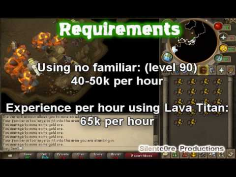 RuneScape Mining Guide - Living Rock Caverns (With Exp/cash Rates)
