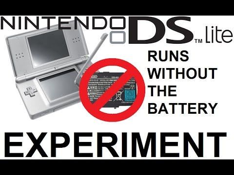Nintendo DS Lite Can Run with no Battery