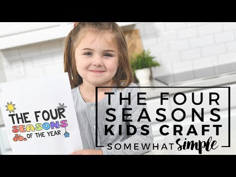 Book of Seasons – Free Printable Craft For Kids