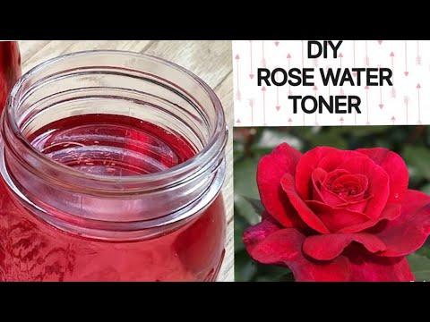 Rose water face toner / diy rose water / makeup remover