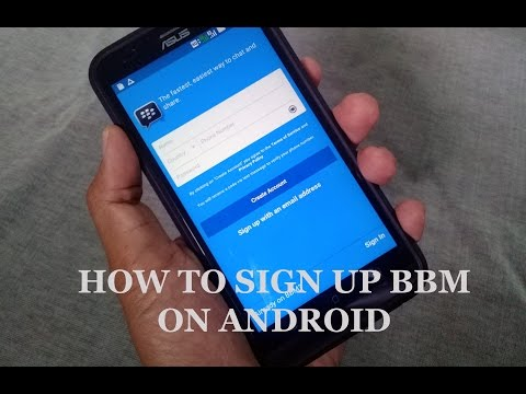 How to sign up blackberry messenger on android phone