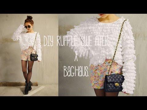 DIY Ruffle Sweater