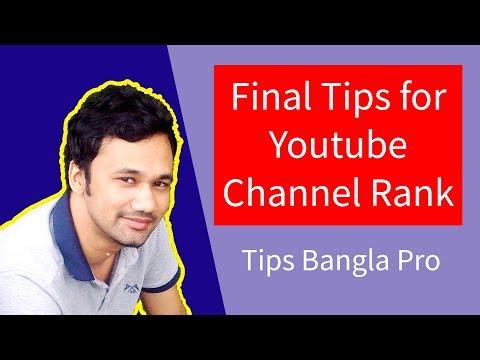 Youtube channel rank final secret tips