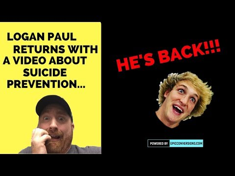 Logan Paul returns with a video dedicated to suicide prevention