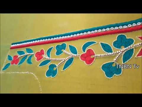 how to make designer blouse at home | simple blouse back neck designs | hand embroidery designs