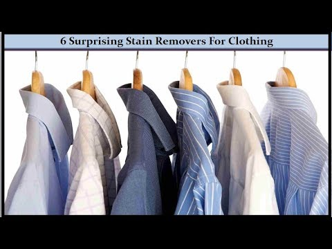 6 Surprising Stain Removers For Clothing