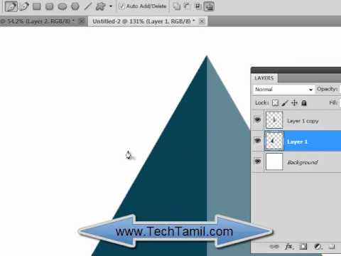 Photoshop Video tutorial on creating 3d pyramid