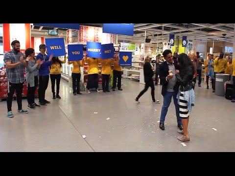 Perfect Proposal Flash Mob in IKEA!