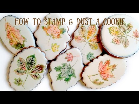 How to Stamp and Dust a Cookie / Marzipan Candies