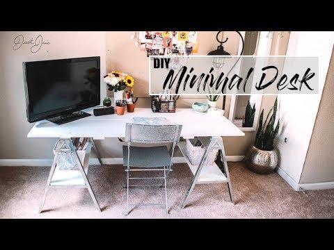 DIY Minimal Desk -  Cheap & Affordable | JustJosie