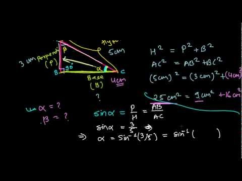 How to find Angle in Degree from a Right Angled Triangle