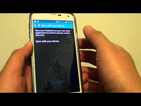 Samsung Galaxy S5: How to stop Facebook Calendar Events Sync to the Phone