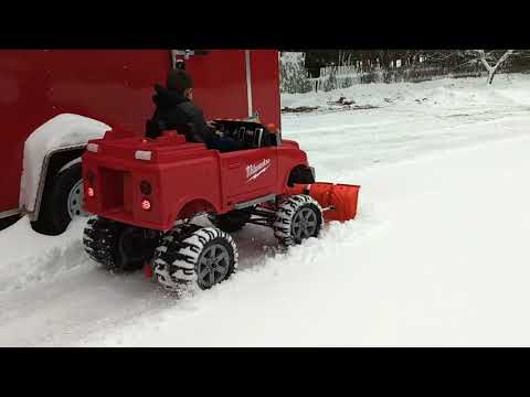 Dad builds kid insane 4x4 dodge monster dually truck with V-plow