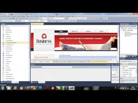การนำ Template Html เข้ามาเป็น MasterPage ASP.Net