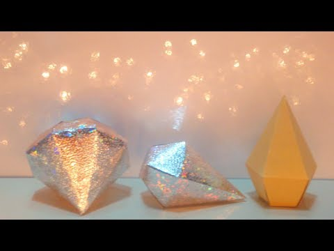 DIY Paper Diamond *Simple and Easy Paper Diamond with DIY Template *How to Make Paper Diamond
