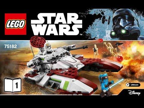 LEGO Star Wars Republic Fighter Tank 75182 DIY Instructions Book 1
