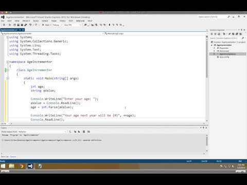 User Input and Converting a String to an Integer in C#