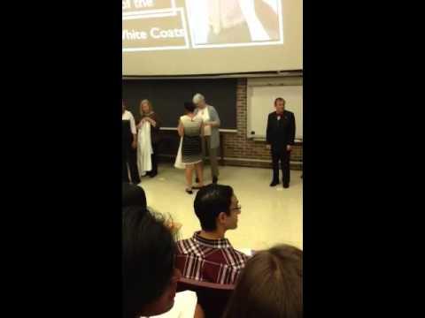 White coat ceremony at NYU dental school