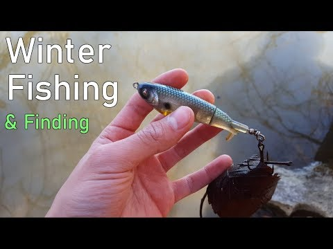 FISHING in February and LURE hunting - Duck Pond / Stroubles Creek, VA