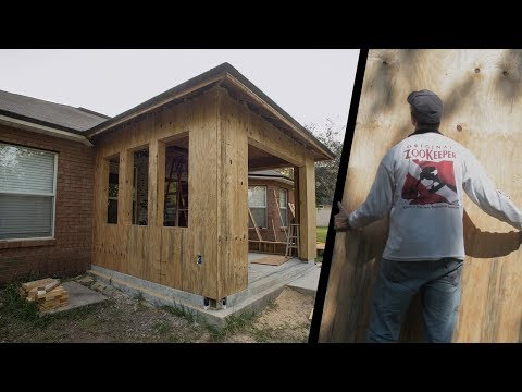 Installing Plywood Sheathing, Turn Porch into Room Vid# 7